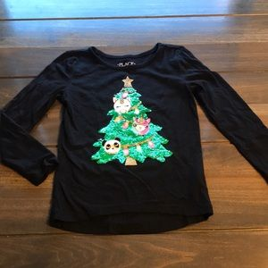Toddler Girl Children's Place Holiday Shirt